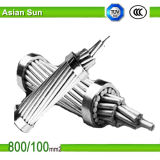 Conductor reforzado acero de aluminio de arriba estándar ACSR del conductor de ASTM