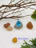 Anel de prata esterlina de jóias com topázio (R0270)