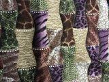 Tissu imprimé en velours tricoté (R018)