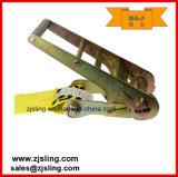 """cinta 4 """" amarelo da catraca de 4 """" anéis-D de X 30 '"""
