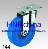 Blaue Belüftung-Rad-Schwenker-Platten-Oberseite-Fußrolle