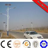 Tipo rachado iluminação solar pólo da rua do diodo emissor de luz da bateria do painel solar