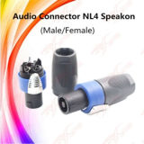 Conector de cable al aire libre audio del conector Nl4 Speakon 4-Pole