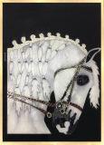 Cavalo de vidro de cor do esmalte Office Art Decoração de pintura