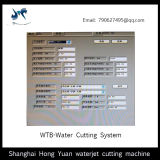 Sistema de controle de máquina de corte a jato de água de alta precisão