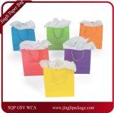 Бумажный мешок подарка, мешок с логосом печати, выдвиженческий мешок с логосом печати, упаковывая бумажный мешок подарка бумаги Kraft