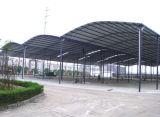 専門デザインプレハブの鉄骨構造の建物か鋼鉄小屋