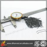 La fibra de hormigón armado Micro extremo de gancho de acero