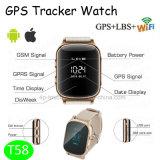 子供か年配者または巡礼者(T58)のためのスマートなGPSの追跡者の腕時計