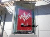 Châssis de fenêtre publicitaire affichage Transparent