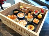 Hongdao Csutom hölzernes Service-Nahrungsmitteltellersegment-natürlicher hölzerner Kasten ohne Kappe _E