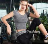 高品質の試しの衣服の適性のヨガの摩耗レディース適性のTシャツ