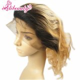 360 Lace Ombre Frontal #27 Loira Malásia Cabelo grosso Lace Frontals Completo