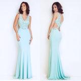 Frauen-Abend-Kleid mit blank rückseitigem und reizvollem langem Kleid