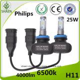 1개의 차 가벼운 4000lm Philips LED 헤드라이트 H11에서 모두