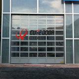 Porta de vidro secional geada comercial de alumínio da garagem