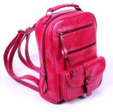 최신 작풍 빨간 디자이너 PU 형식 학교 책가방 (BDM082)