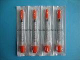 0.5ml (50U) 세륨, ISO를 가진 바늘을%s 가진 의학 처분할 수 있는 인슐린 주사통