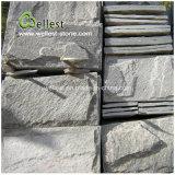 Pietra naturale della parete di Rockface di spaccatura dell'ardesia verde