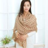 Lã de serigrafia cachecol para Mulheres