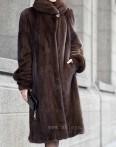 Lady's manteau de fourrure (W-034)
