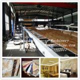 Máquina de mármore de imitação da extrusão do painel da decoração interior de painel de parede da folha do PVC do plástico