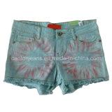 Populares Lady's Jeans pantalones. La moda Denim jeans o pantalones cortos de las mujeres