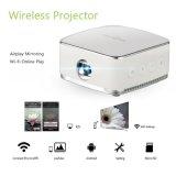Projecteur sans fil portatif compatible avec le vidéo d'Airplay HD étalage de 120 pouces vie de la batterie de 240 mn