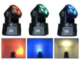 5* 18W RGBWA+UV 6in1 소형 LED 광속 이동하는 맨 위 빛