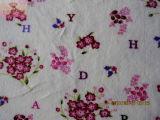 Impressão de flor pequena (HZS veludo--00131)