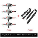 Il kit completo della cintura di sicurezza della sedia a rotelle ha composto 4 di cinghia di giro del PC di PCS Retrators +1 Fes031