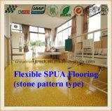 Resistente a la abrasión Anti-Skid Spua pisos de goma de patrón de piedra