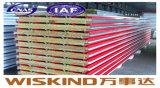 壁および屋根のための耐火性の絶縁体の岩綿サンドイッチパネル