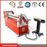 Máquina de dobra da placa de 3 rolos, máquina de rolamento hidráulica da placa