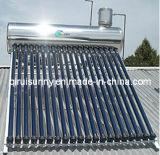 acero inoxidable calentador de agua solar de baja presión
