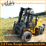중국 Xinchai Engine를 가진 3.5t Rough 지형 Forklift