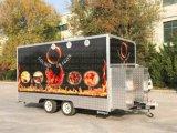 Große Wohnmobilvan-Nahrung tauscht mobilen Nahrungsmittelschlußteil