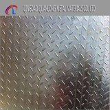 Plaque Checkered galvanisée plongée chaude de la pente A36