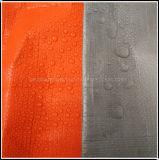 Antivieillissement Orange et de l'argent PE La bâche de protection pour la construction
