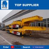 Titan 45 tonnes hydraulique chute à 2 essieux de pont faible de l'excavateur Lowloader chariot lit pour la vente de remorque