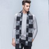 A forma dos homens verific o lenço longo feito malha lãs do inverno do teste padrão (YKY4605)