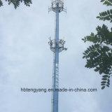 Телекоммуникации Monopole Поляк пробки горячего DIP гальванизированные стальные одиночные