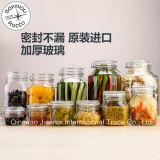 Большой размер кухонных хранения стеклянных бутылок для зерновых