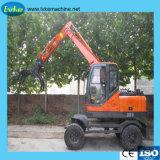 El peso de funcionamiento de la excavadora 8.5tons 8.5t pequeña excavadora de cadenas