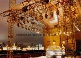 Illuminazione del LED e fascio dell'altoparlante con il baldacchino del tetto per la mostra dell'automobile