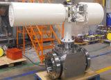 API 6D de entrada superior de acero forjado de la válvula de bola