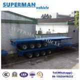 Het op zwaar werk berekende Flatbed Type van Aanhangwagen van de Lading van 4 As 80t Semi voor Verkoop