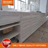 La laque fini de peindre des armoires de cuisine moderne blanc simple