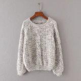 Otoño de la manera de las mujeres que arropa el suéter puro del Redondo-Cuello del Knit del moer del color