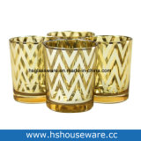 Tamanhos Diferentes de Vidro dourado suporte para velas